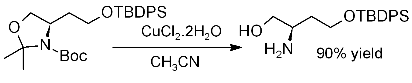 CuCl2 DeprotectionOfAminoAlcohol