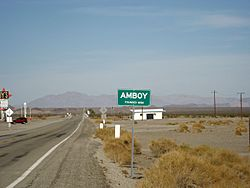 Amboy sign, west side of town