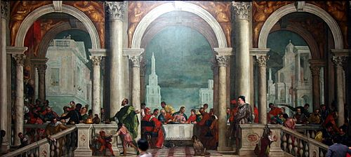Banquet in the House of Levi by Paolo Veronese - Accademia - Venice 2016 (2)
