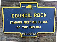 Council-Rock-Famous-Meeting-Place-of-the-Indians-NYS-Historical-Marker-1932