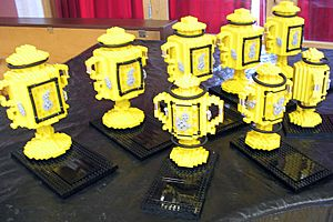 First Lego League 2005 Cambridge trophies