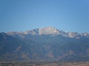 Pikes Peak in November 2010