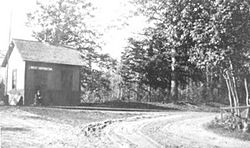 West Hopkinton Railroad Depot circa early 1900s