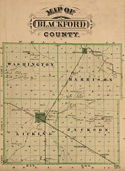 Blackford County, Indiana map from 1876 atlas
