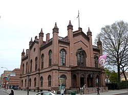 The Flushing Town Hall, now a cultural center