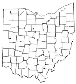 Location of Bucyrus, Ohio
