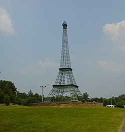 The Eiffel Tower of Paris, Tennessee.