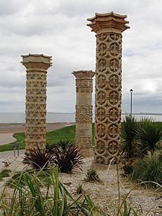 Portobello Beach Pillars