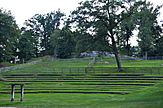 An overgrown outdoor theater