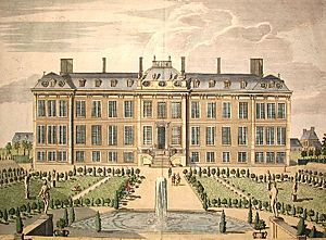 The North Prospect of Mountague House JamesSimonc1715