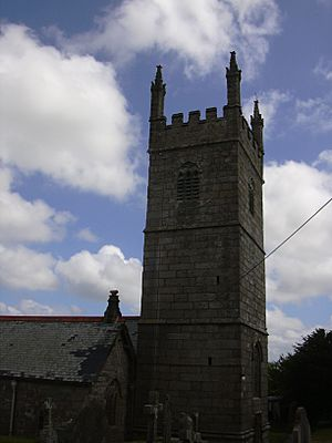Tower of the Church of St Laudus, Mabe, Cornwall (DSCN0502).jpg