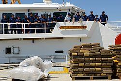 US Coast guard cutter Paul Clark crew members offloads contraband -- .VHjKscm zZk