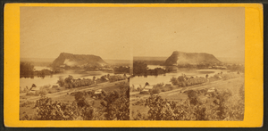 View of barn bluff and Mississippi river, by Upton, B. F. (Benjamin Franklin), 1818 or 1824-after 1901