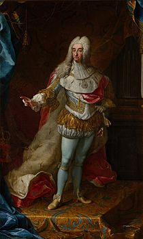 Portrait of Vittorio Amedeo II in majesty, by Martin van Meytens (1728, Palace of Venaria)