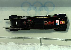 Army Bobsleigh on a wall