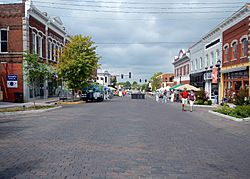 Downtown Rogers during the 2012 Frisco Fiasco