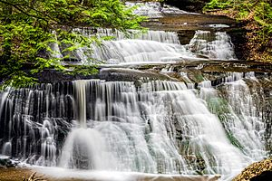 Hells Hollow Falls at McConnells Mill State Park - Multiple Exposures
