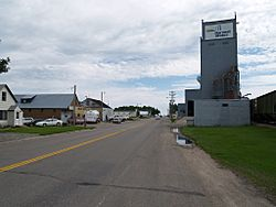 Near the grain elevator within Horace
