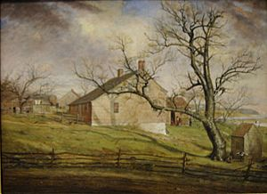 Long Island Farmhouses by William Sidney Mount, 1862-63
