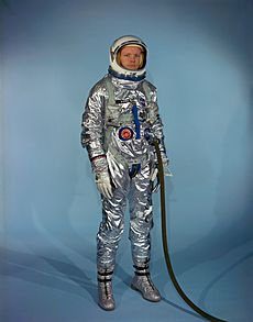 Neil Armstrong in Gemini G-2C training suit