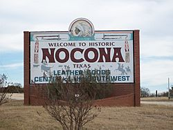 Nocona Welcome Sign