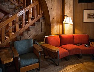 Red Couch - Timberline Lodge