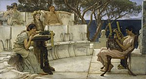 Sir Lawrence Alma-Tadema, RA, OM - Sappho and Alcaeus - Walters 37159