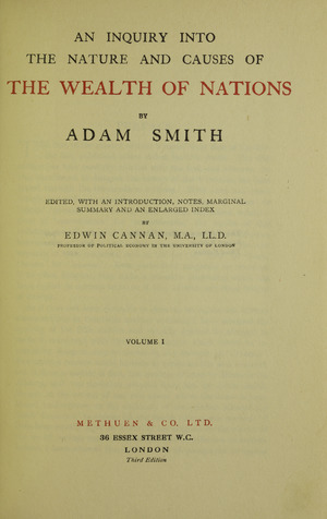 Smith - Inquiry into the nature and causes of the wealth of nations, 1922 - 5231847