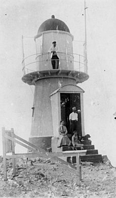 StateLibQld 1 92828 Family group at the lighthouse on Goode Island, Torres Strait, ca. 1909