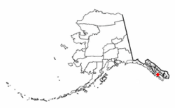 Location of Point Baker, Alaska