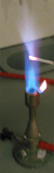 Flame test for lead