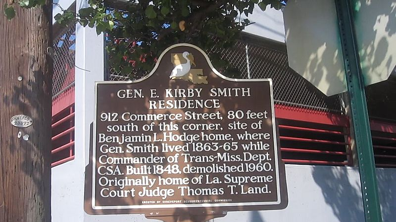 Kirby Smith residence sign in Shreveport, LA MVI 2626 Kirby Smith sign
