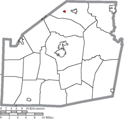 Location of Highland in Highland County