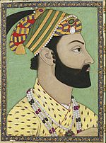 Portrait miniature of Ahmad Shah Durrani