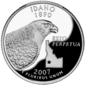 Idaho quarter dollar coin