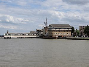 Another view of Royal Terrace Pier and London River House Gravesend