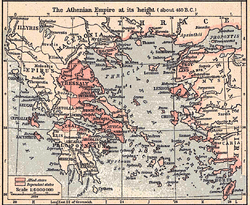 Map of the Athenian Empire circa 450 BC.