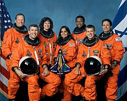 Crew of STS-107, official photo