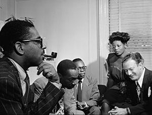 Dizzy Gillespie, Tadd Dameron, Hank Jones, Mary lou Williams, Milt Orent. Ca.August 1947 (Gottlieb)