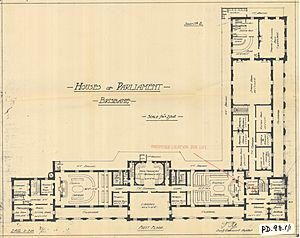 First floor plan of Parliament House, Brisbane City, 21 July 1920