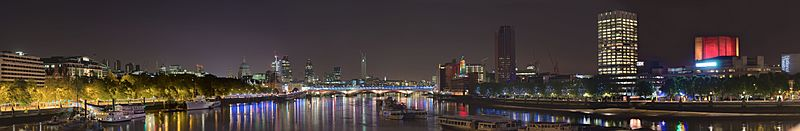 London's South Bank By Night