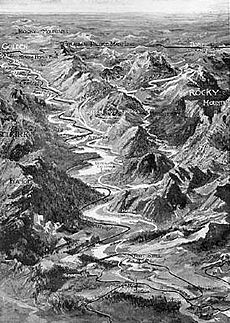 Scenic map of Columbia and Kootenay valley 1913