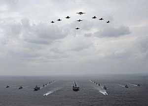 USN-JASDF ship and aircraft formations during ANNUALEX 2008 081119-N-7047S-140