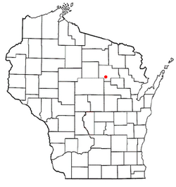 Location of Antigo, Langlade County in Wisconsin