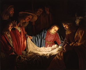 Gerard van Honthorst - Adoration of the Shepherds (1622)