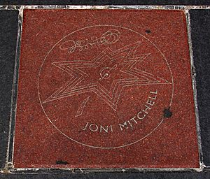 Joni Mitchell Star on Canada's Walk of Fame