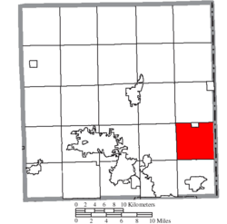 Location of Brookfield Township in Trumbull County
