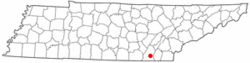 Location of Harrison, Tennessee