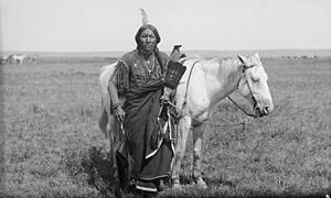 Ako, a Comanche warrior and horse -