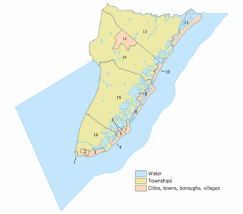 Cape May County, New Jersey Municipalities